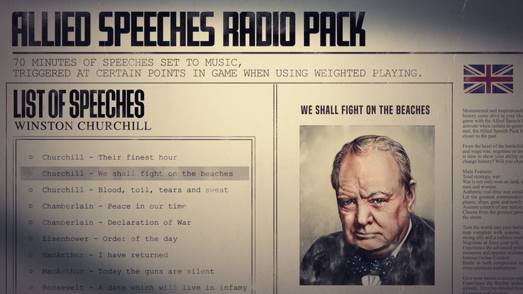 Hearts of Iron IV: Allied Speeches Pack Screenshot 8