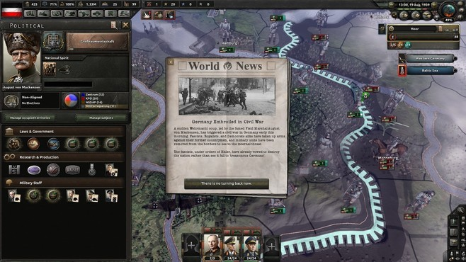 Hearts of Iron IV: Waking the Tiger Screenshot 4
