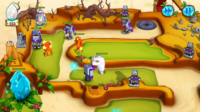 Jungle vs. Droids Screenshot 4