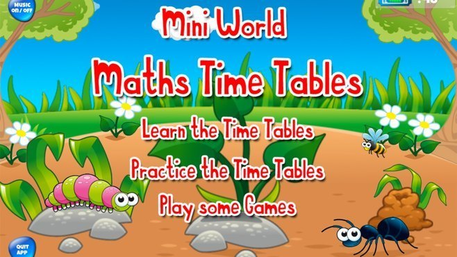 Mini World Maths Times Tables Screenshot 2