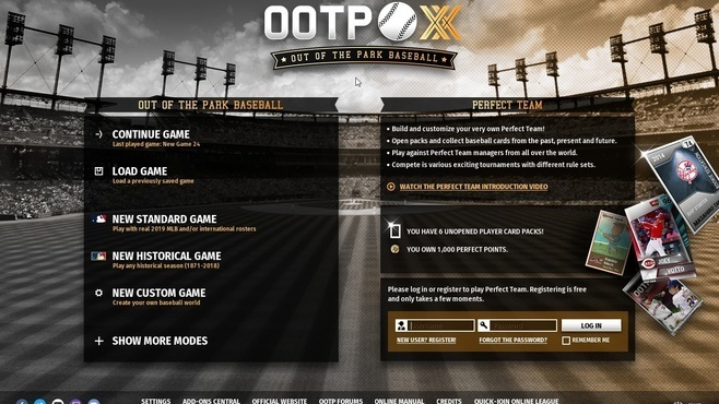 Out of the Park Baseball 20 Screenshot 1