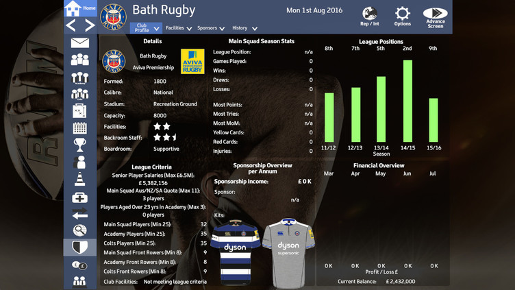 Rugby Union Team Manager 2017 Screenshot 7
