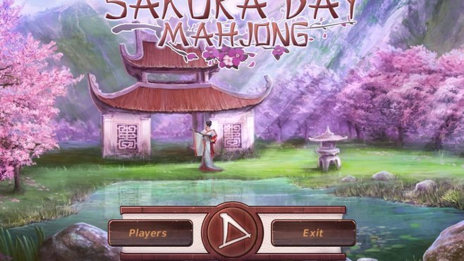 Sakura Day Mahjong Screenshot 1