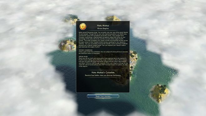 Sid Meier's Civilization V: Civilization and Scenario Pack - Polynesia Screenshot 3