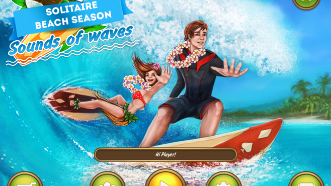 Solitaire Beach Season: Sounds of Waves Screenshot 1