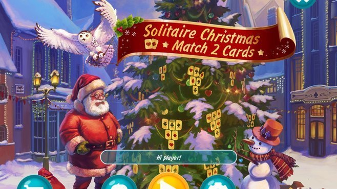 Solitaire Christmas Match 2 Cards Screenshot 1