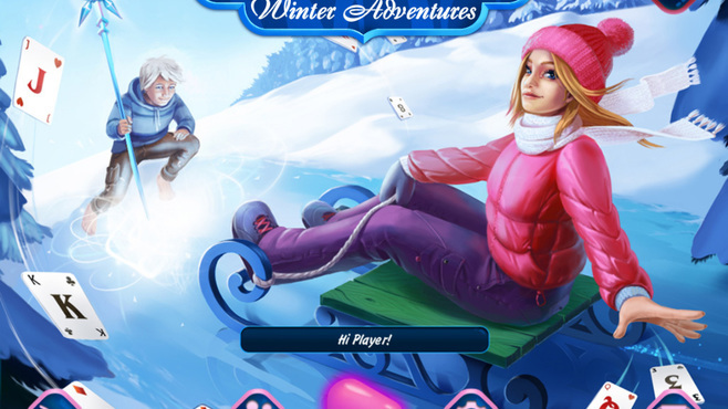 Solitaire Jack Frost Winter Adventures Screenshot 1