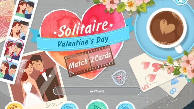 Solitaire Match 2 Cards Valentines Day Screenshot 7