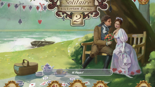 Solitaire Victorian Picnic 2 Screenshot 1
