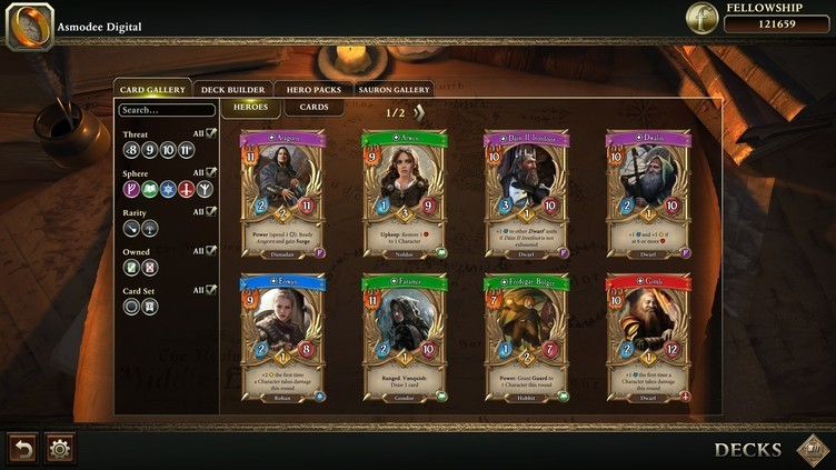 The Lord of the Rings: Adventure Card Game Screenshot 1