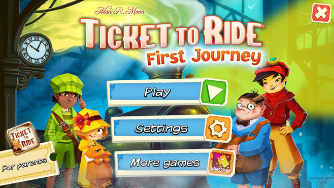 Ticket to Ride: First Journey Screenshot 1