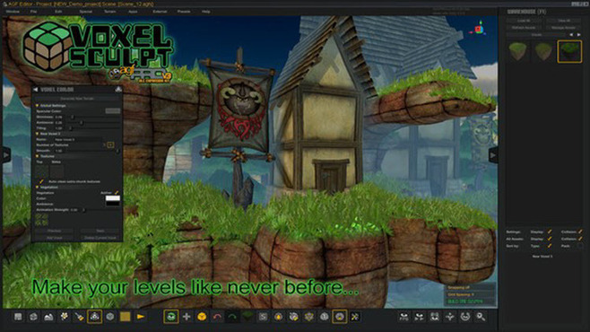 Axis Game Factory's AGFPRO Voxel Sculpt DLC Screenshot 1