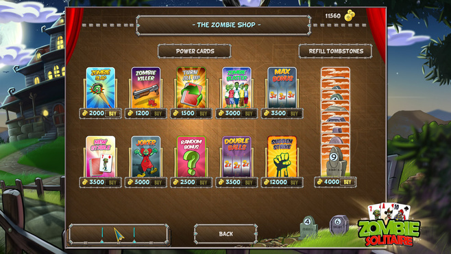 Zombie Solitaire Screenshot 1